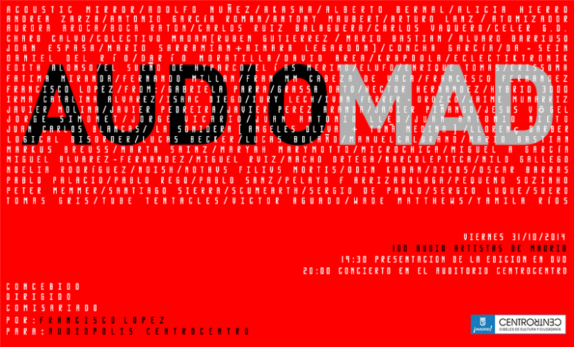 AUDIOMAD - 100 audio-artistas de Madrid