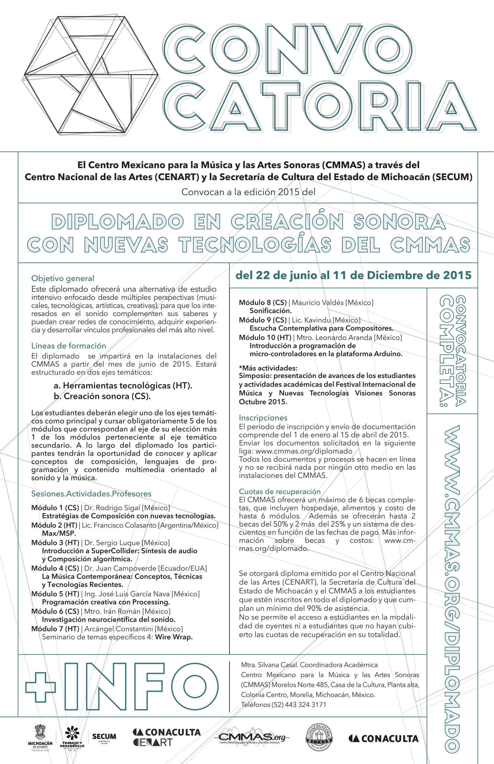 CMMAS - Diplomado en Creación Sonora con Nuevas Tecnologías